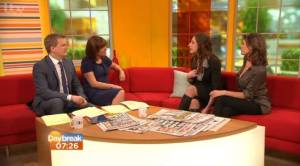 Aled Jones, Lorraine Kelly, Ingrid Stone and Liz Fraser