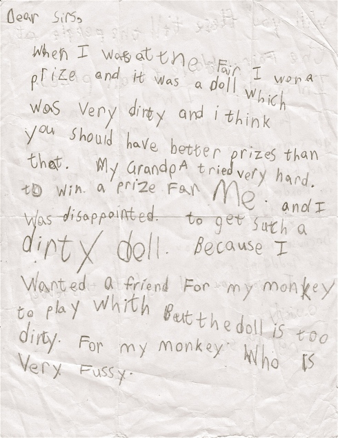 First Complaint Letter